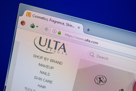 Ryazan, Russia - June 26, 2018: Homepage of Ulta website on the display of PC. URL - Ulta.com