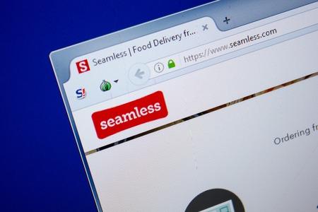 Ryazan, Russia - June 26, 2018: Homepage of Seamless website on the display of PC. URL - Seamless.com