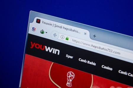 Ryazan, Russia - June 26, 2018: Homepage of Hepsibahis654 website on the display of PC. URL - Hepsibahis654.com