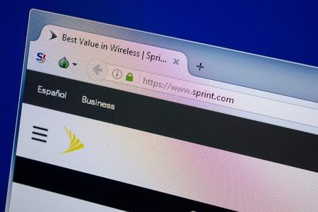 Ryazan, Russia - June 26, 2018: Homepage of Sprint website on the display of PC. URL - Sprint.com Editorial