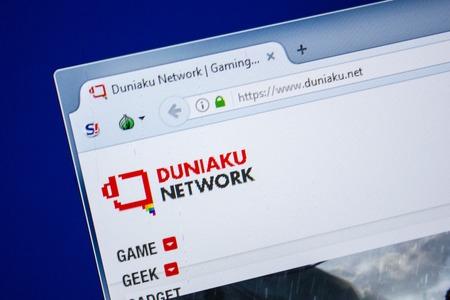 Ryazan, Russia - July 24, 2018: Homepage of Duniaku website on the display of PC. Url - Duniaku.net