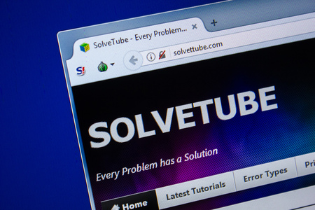 Ryazan, Russia - July 24, 2018: Homepage of SolvetTube website on the display of PC. Url - SolvetTube.com Editorial