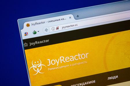 Ryazan, Russia - July 24, 2018: Homepage of JoyReactor website on the display of PC. Url - JoyReactor.cc