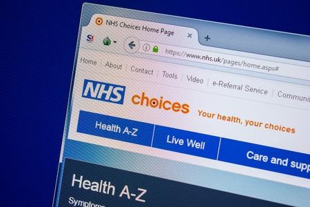 Ryazan, Russia - July 24, 2018: Homepage of NHS website on the display of PC. Url - NHS.uk