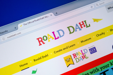 Ryazan, Russia - July 08, 2018: RoaldDahl.com website on the display of PC