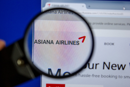 Ryazan, Russia - July 11, 2018: FlyAsiana.com website on the display of PC
