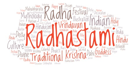 Radhastami   word cloud. Wordcloud made from letters and words only.