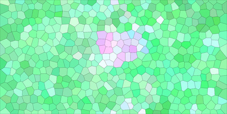 Good abstract illustration of green and magenta pastel colors Small hexagon. Useful  for your work.