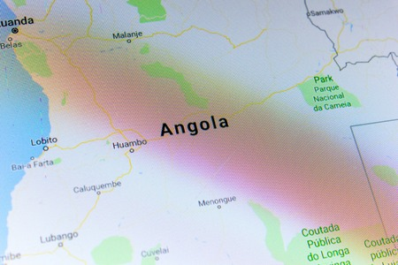 Ryazan, Russia - July 08, 2018: Country of Angola on the google maps service