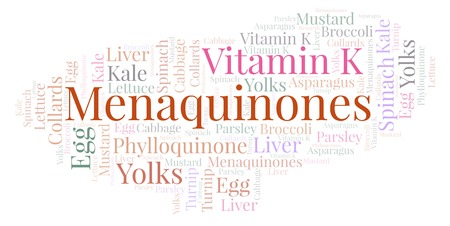 Menaquinones  word cloud. Wordcloud made with text only.