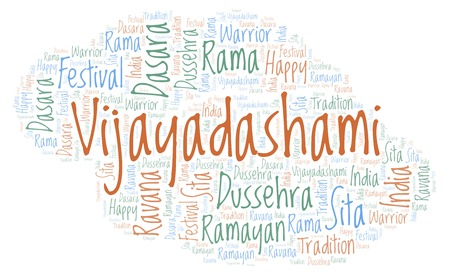 Vijayadashami word cloud. Wordcloud made with text only.
