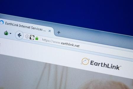 Ryazan, Russia - August 26, 2018: Homepage of Earth Link website on the display of PC, Url - EarthLink.net.