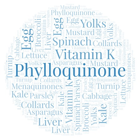 Phylloquinone  word cloud. Wordcloud made with text only.