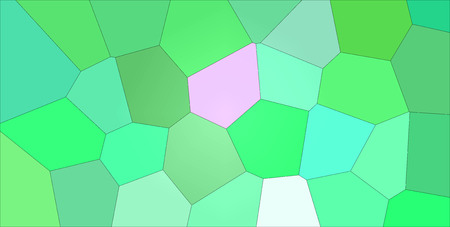 Useful abstract illustration of green and magenta gigant bright colors hexagon. Stunning  for your prints. Stock Photo