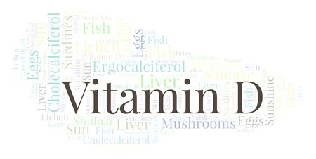 Vitamin D  word cloud. Wordcloud made with text only.