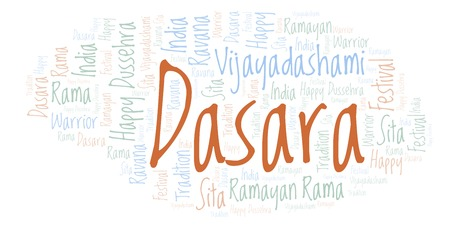 Dasara  word cloud. Wordcloud made with text only.
