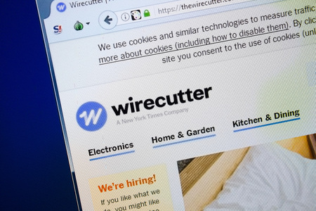 Ryazan, Russia - August 26, 2018: Homepage of The Wire Cutter website on the display of PC, Url - TheWireCutter.com.