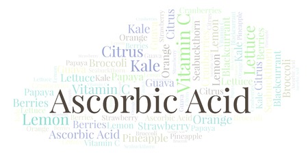 Ascorbic Acid  word cloud. Wordcloud made with text only.