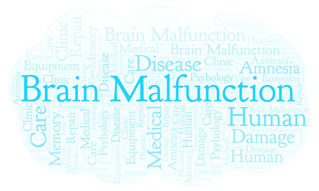 Brain Malfunction word cloud. Wordcloud made with text only. Stock Photo - 107434476