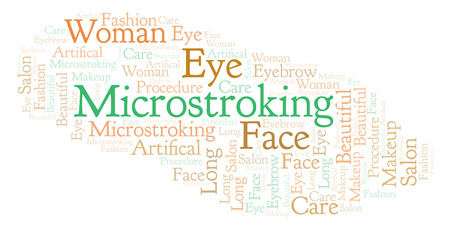 Microstroking word cloud. Wordcloud made with text only.