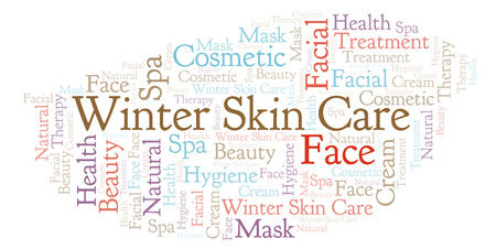 Winter Skin Care word cloud. Wordcloud made with text only.