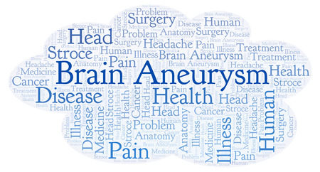 Brain Aneurysm word cloud. Wordcloud made with text only.