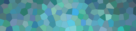 Abstract illustration of wintergreen bright Little hexagon banner background, digitally generated