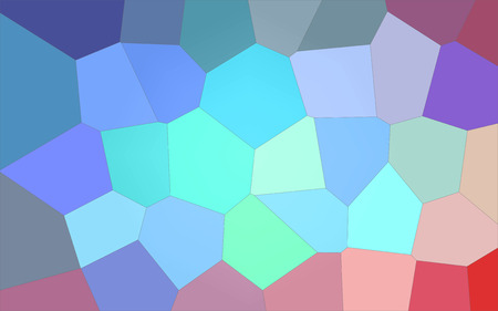 Abstract illustration of blue green white and red bright Giant Hexagon background, digitally generated