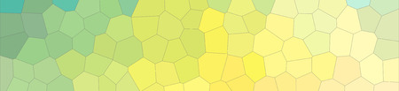Abstract illustration of blue and yellow pastel Middle size hexagon banner background, digitally generated Imagens