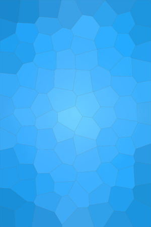 Abstract illustration of Vertical dodger blue Big Hexagon background, digitally generated