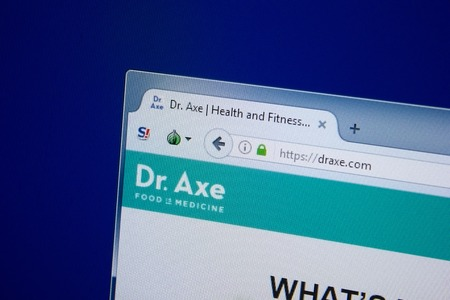 Ryazan, Russia - September 09, 2018: Homepage of Dr Axe website on the display of PC, url - DrAxe.com.