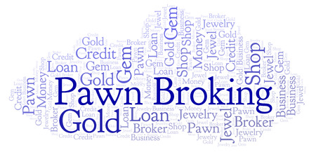 Pawn Broking word cloud. Wordcloud made with text only.