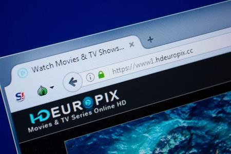 Ryazan, Russia - September 09, 2018: Homepage of Hd Euro Pix website on the display of PC, url - HdEuroPix.cc. Editorial
