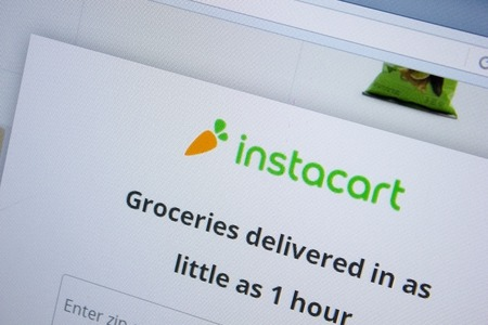 Ryazan, Russia - September 09, 2018: Homepage of Instacart website on the display of PC, url - Instacart.com.