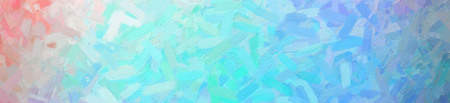 Abstract illustration of blue green white and red Abstract Oil Painting banner background, digitally generated Standard-Bild