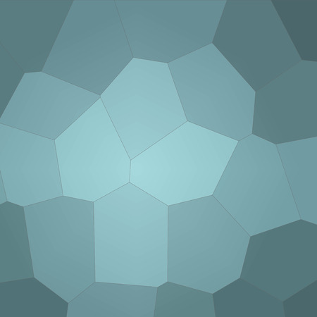 Abstract illustration of Square wintergreen Giant Hexagon background, digitally generated Stock Photo
