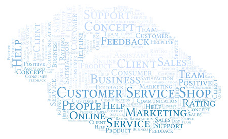 Customer Service Shop word cloud. Made with text only.