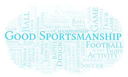 Good Sportsmanship word cloud. Made with text only.