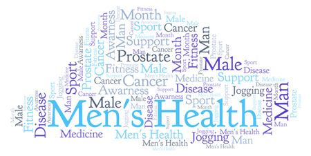 Men's Health word cloud. Wordcloud made with text only.