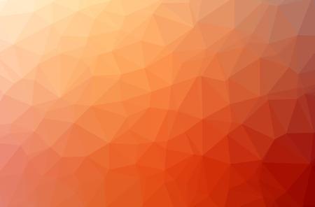 Illustration of orange polygonal modern multicolor background