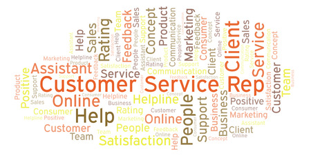 Customer Service Rep word cloud. Made with text only. Stock fotó