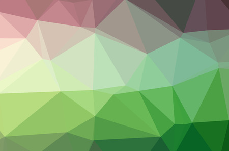 Illustration of green poligon modern multicolor background