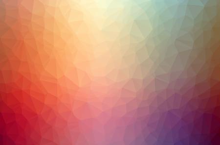 Illustration of orange poligon elegant multicolor background