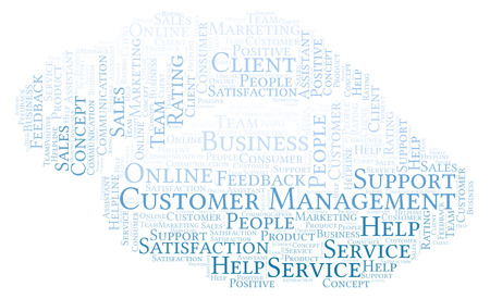 Customer Management word cloud. Made with text only.