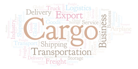 Cargo word cloud. Wordcloud made with text only.