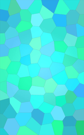 Abstract illustration of Vertical sea seprent bright Big Hexagon background, digitally generated
