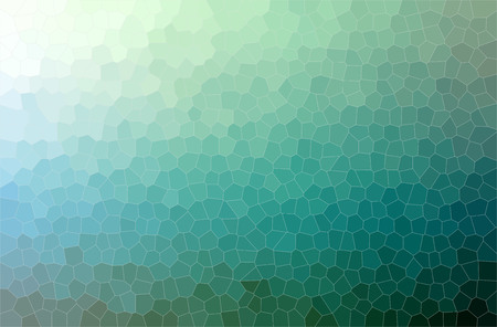 Illustration of green  Small Hexagon paint background, digitally generated