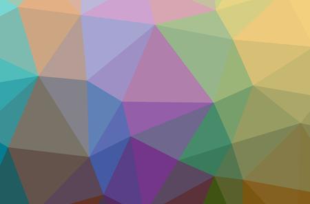 Illustration of orange poligon beautiful multicolor background