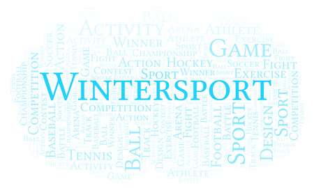 Wintersport word cloud. Made with text only.