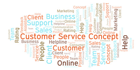 Customer Service Concept word cloud. Made with text only.